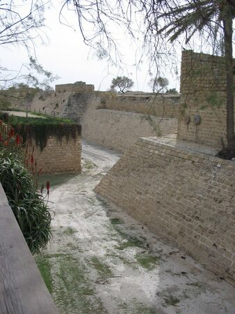 ceasarea: castle moat and fortification