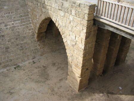 ceasarea: Castle moat and bridge