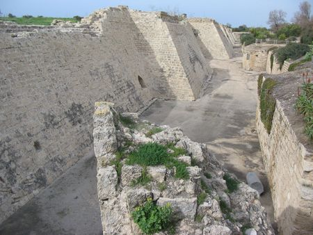 ceasarea: Castle moat and fortifications
