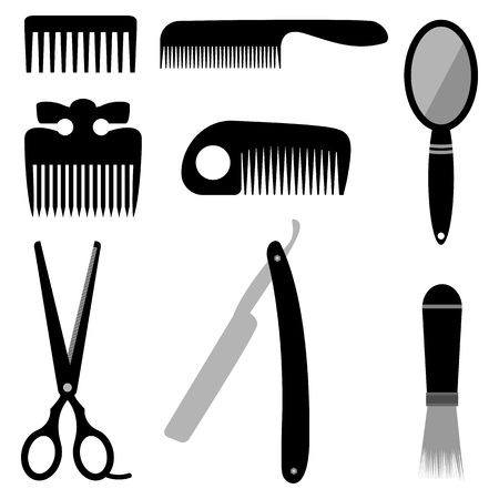 coiffeur: Vector set for work of the hairdresser is drawn by hand