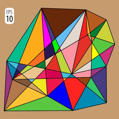 Polygon background from bright brown triangles