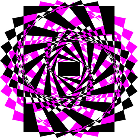 The wave vector of optical illusion. Background, protective mesh. Illustration