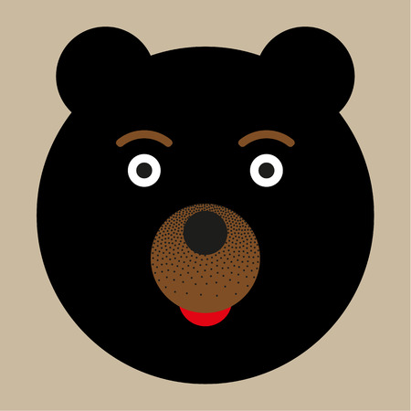 A funny little bear. Icon for graphic design