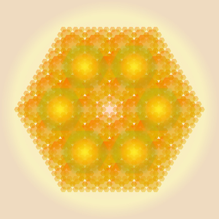 Pattern in the form of a honeycomb. Abstract background for graphic design