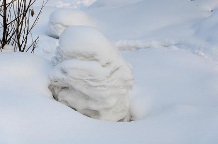 drifts: Snow drifts in the Ussuri taiga