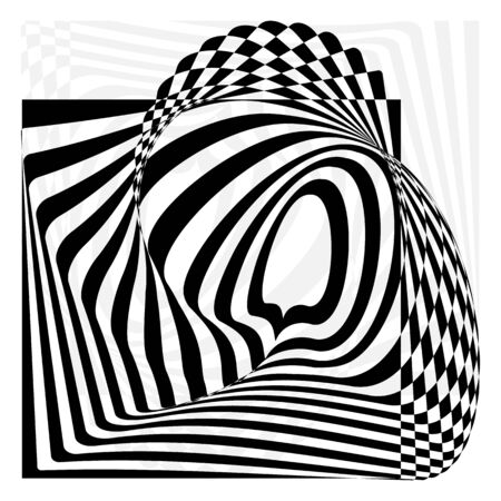 opt: The wave of optical illusion. Background, protective mesh. rasterized image