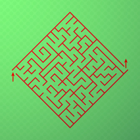 Logical game for development of thinking. Vector maze Illustration