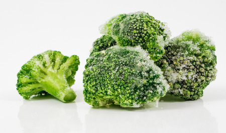 broccolli: Image of green frozen broccoli isolated close up