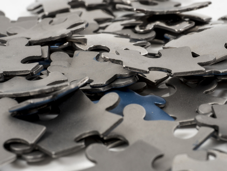 Image of puzzle pieces isolated close up photo
