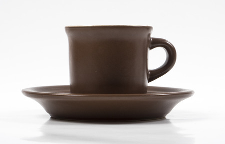 Image of coffee in brown cap isolated photo