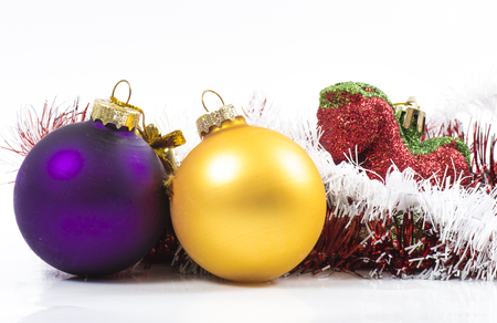 Image of new year christmas toys and garlands. photo