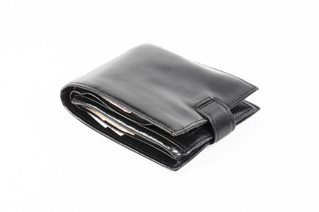 Image of wallet with money isolated close up photo