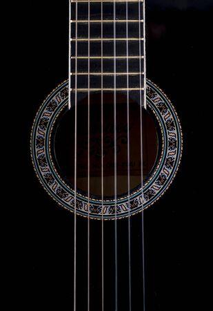 boehm flute: Imagen de la guitarra de cerca.