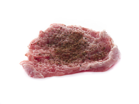 Imageof raw meat with spices isolated photo