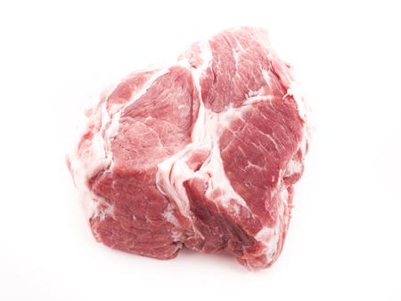 Imagen de la carne roja sin procesar aislado de cerca. Foto de archivo