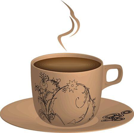 expresso: Fresh aromatic coffee