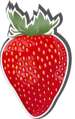 Vector Strawberry Fruit Icon Stock Vector - 17346783