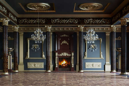 Palace interior. 3D rendering