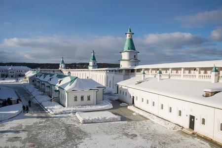 New Jerusalem monastery on a sunny winter day Archivio Fotografico