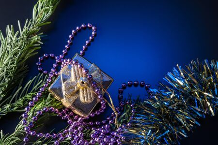 Christmas and New Year Decoration. Bauble on Christmas Tree