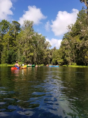 Kayaking snf floating on a river in Florida