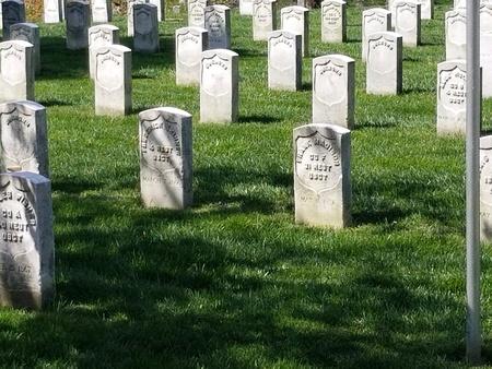 Civil war era grave markers