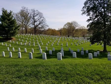 National cemetery grave markers