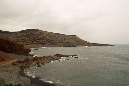 golfo: view of El Golfo, Lanzarote