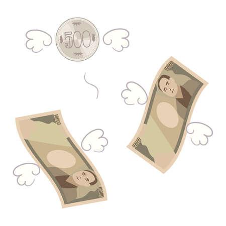 Illustration of losing money