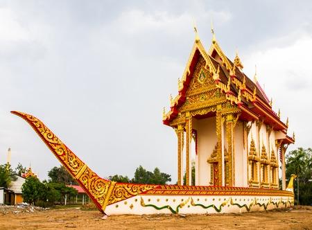 mahasarakham: Suphannahong buddhist church in Wat BanWangYaw, Mahasarakham, Thailand Stock Photo