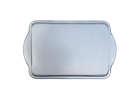 nonstick: materimaterial baking tray for baking bread and savory meatloaf. non-stick coating. isolated on white.al rectangle baking loaf pan non-stick coating. isolated on white.