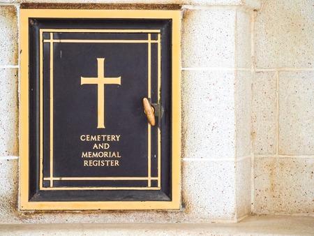 calvary: Calvary cemetery in memories. Stock Photo