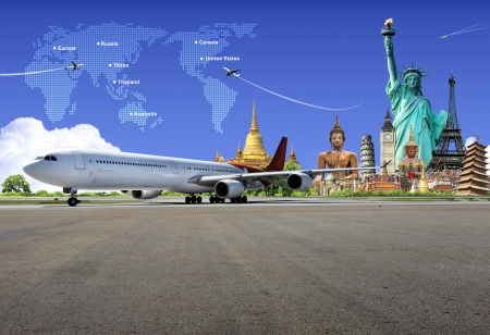 transportation travel: Travel the world Stock Photo
