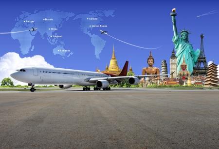 flight: Travel the world Stock Photo