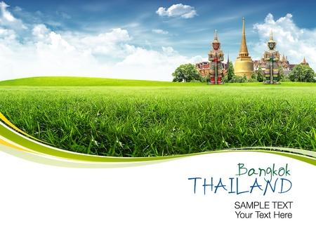 bangkok city: Thailand travel concept