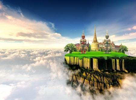 of siam: Thailand travel concept
