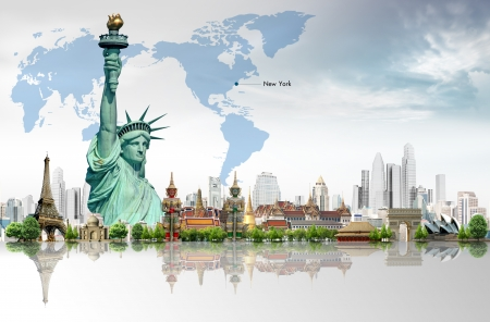 enlightening: Travel, Liberty Enlightening the World Stock Photo