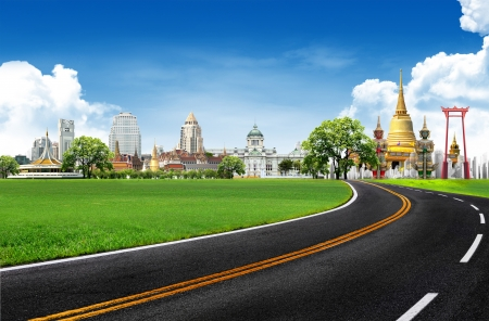 Thailand travel background concept  Stock Photo - 14960846