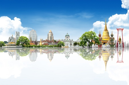spiritual journey: Thailand travel background concept  Stock Photo