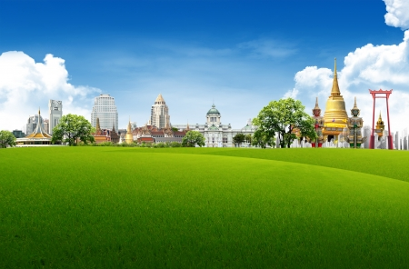 Thailand travel background concept  Stock Photo - 14960843