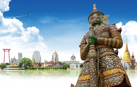 Travel concept, Bangkok THAILAND Banco de Imagens - 14997017