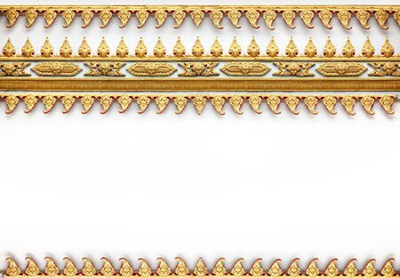 Frame with Thai art wall pattern in thailand Temple photo