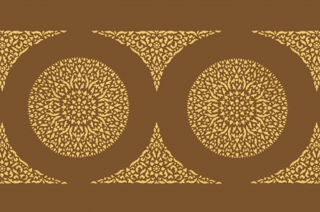 Thai art wall pattern for background Stock Photo - 14996998