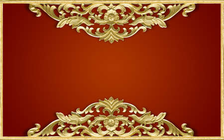 Pattern of wood frame carve flower Stock Photo - 14996997