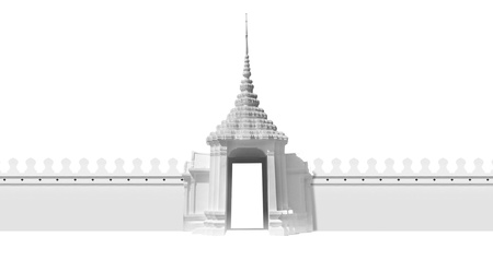 Grand white gate to the grand palace,Bangkok Thailand  photo