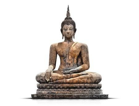 buddha statue on white background  photo