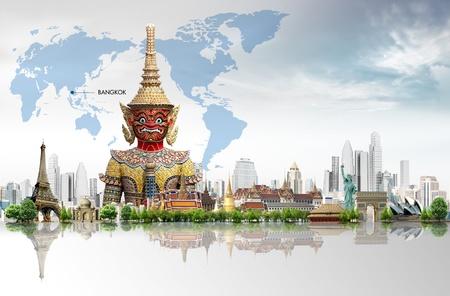 Thailand bangkok travel concept