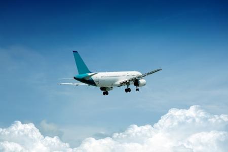 corporate airplane: Airplane on blue sky