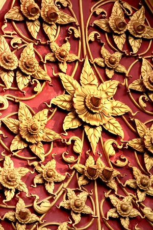 Traditional Thai style pattern on white background Stock Photo - 15500316