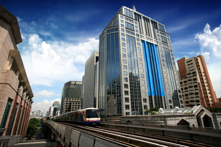 Sky train in Bangkok photo